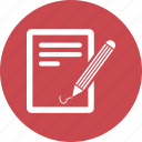 note, pencil, sheet, writing icon