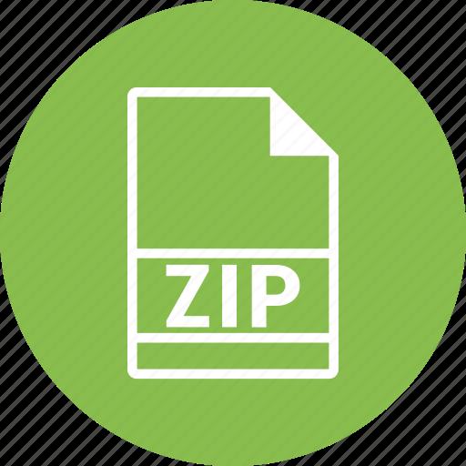 closed, file format, folder, organize, zip icon