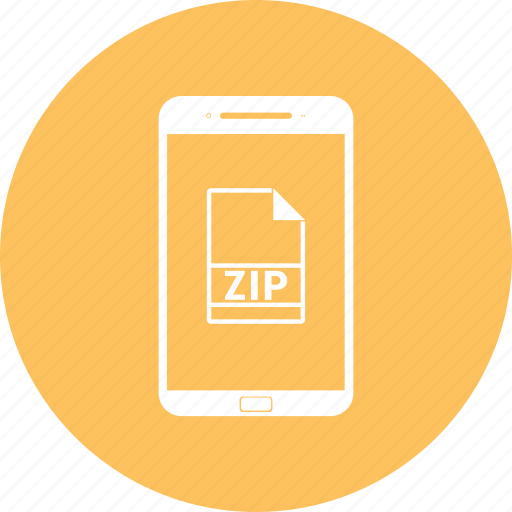 closed, folder, mobile, organize, phone, zip icon