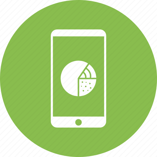 communication, infographic, mobile, phone, pie chart, smart phone icon