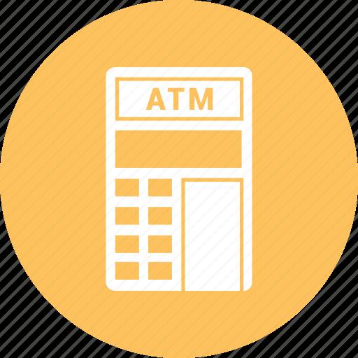 atm, bank, machine, money icon