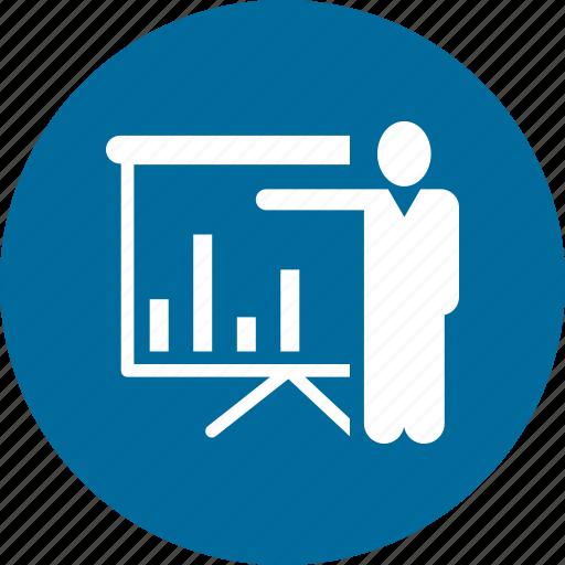 black board, board, business planing, growth bar, man, plank icon
