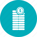 coin, dollar, earning, money, wallet icon