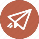outline, paper, plane, tools icon