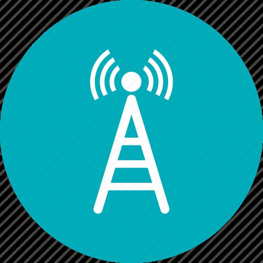 signals, tower, wifi, wifi signals, wireless icon