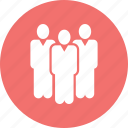business, location, man, stand, team work icon