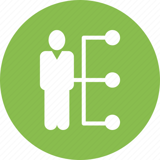 business, location, man, share, stand, team icon