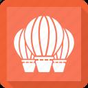 air balloon, charliere, fly balloon, hot airballoon icon