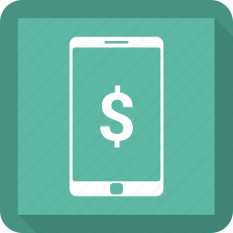 dollar, mobile, pay, sign icon