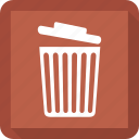 bin, can, delete, trash icon