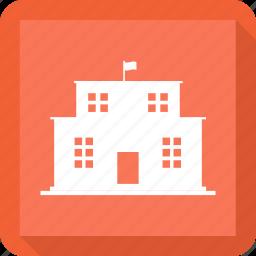 building, education, school icon