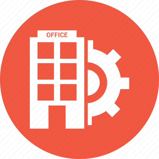 building, business, house, office, setting icon