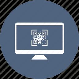 display, monitor, qr, screen, tv icon