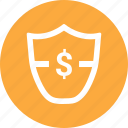 antivirus, dollar, security, shield icon