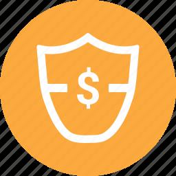 antivirus, dollar, security, shield icon