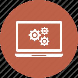 computer, laptop, setting, work icon