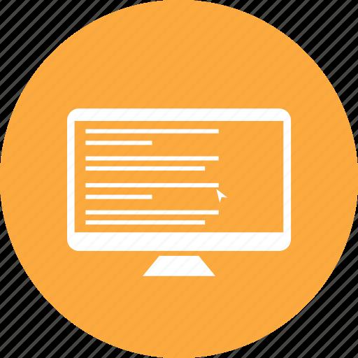 code, computer, monitor, pc icon