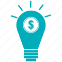 bulb, idea, light, light bulb, light bulbbulb icon