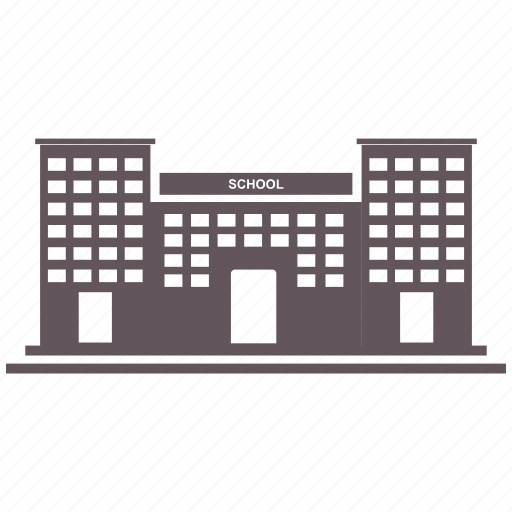 building, flag, school, university icon