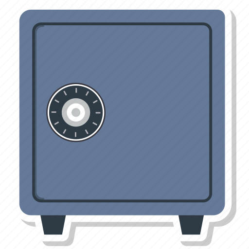 bank, bank vault, locker, safe, vault icon
