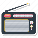 fm radio, media, radio, radio set icon