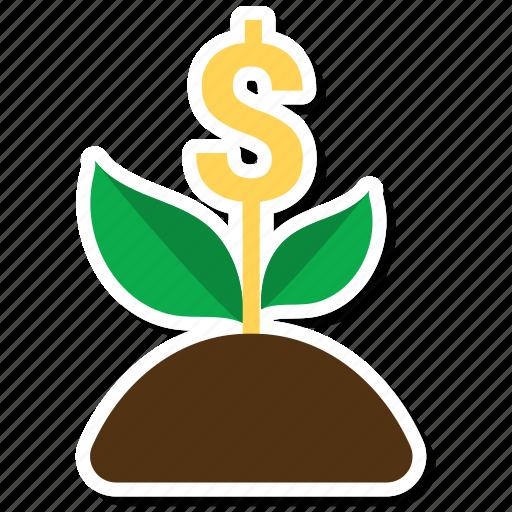 ecology, green, money plant, plant icon