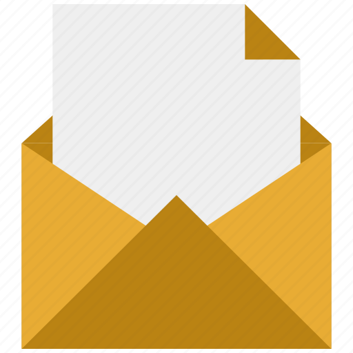 envelope, letter, mail, open, post icon