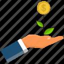 business, cash, finance, gesture, hand, in, money icon