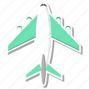 airplane, plane, travel icon