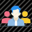 employee, group, people, staff, team, team leader, teamwork icon icon