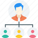 boss, contacts, leader, team, team leader, team leading, teamwork icon icon