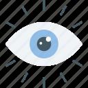 business, eye, statistics, visibility, vision icon icon