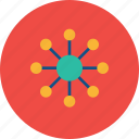 business, communication, connection, global, globe, network, nodes icon
