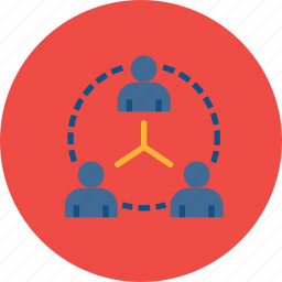 business, company, connection, hierarchy, network, structure, team icon