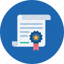 authorization, certificate, certification, contract, degree, license icon