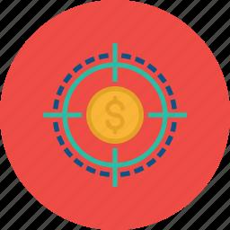 earning, finance, financial, goal, market, sales, target icon