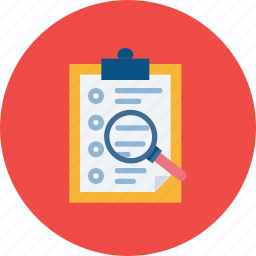 candidate, examine, find, resume, search, shortlist icon