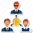 bitcoin, office, online, relationship, team, work icon