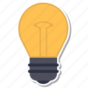 blub, bright, idea, solution icon
