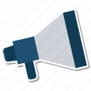 advertising, announce, broadcast, marketing, megaphone, speaker icon