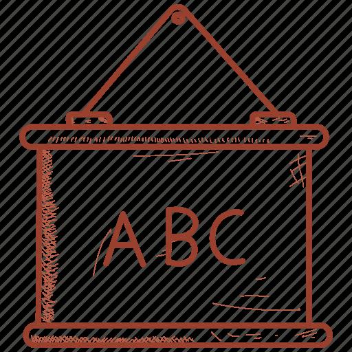 Calculation, mathematics, black, board icon