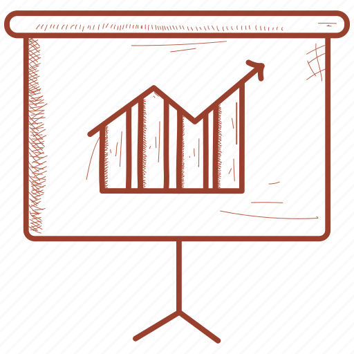 bar, black, board, calculation, infographic, mathematics icon