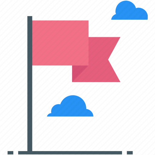 flag, flagged, mark, point, report icon icon