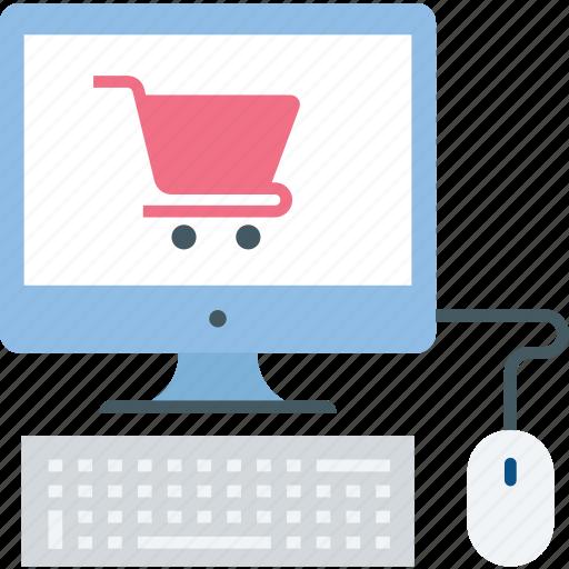 cart, desktop, display, ecommerce, screen, shop, shopping icon icon