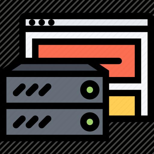 data, database, drive, finance, hosting, server, storage icon