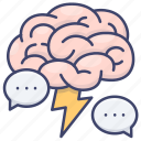 brain, brainstorm, creative, inspiration icon