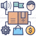product, industry, business, plan icon
