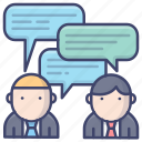 chat, communication, consult, interview icon