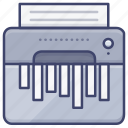 classified, document, paper, shredder icon