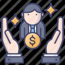 client, investor, sponsor, service icon